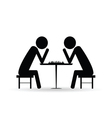people chess symbol black vector image vector image