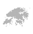 pixel map of hong kong dotted map of hong kong vector image vector image