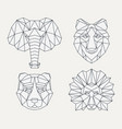 polygonal geometric animals vector image