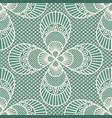 seamless decorative lace pattern on blue vector image vector image