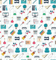 Seamless school pattern Back to school Flat design vector image vector image