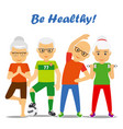 senior age couples healthy concept vector image vector image