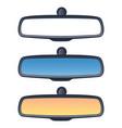 set car rear view mirrors vector image