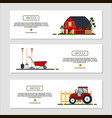 set of horizontal banners for farm desing with vector image