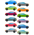 set of multicolored car vector image vector image