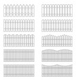 set of outlines of fences vector image vector image