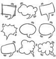 set of text bubble style collection vector image vector image
