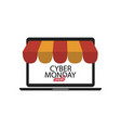 shopping online on cyber monday sale business vector image