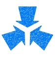 Shrink Arrows Grainy Texture Icon vector image vector image
