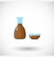 soy sauce flat icon vector image vector image