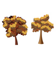 Stylized Autumn Tree4 vector image vector image