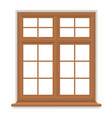 traditional wooden window isolated vector image