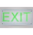 transparent sign exit on the plate 01 vector image vector image