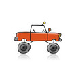 tuned suv simple sketch for your design vector image vector image