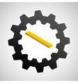under construction gear ruler icon vector image vector image