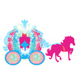 vintage carriage icon vector image vector image