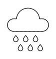 weather cloud rain drops season meteorology vector image vector image