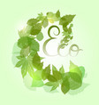 whirlpool with green leaves sparkles and with vector image