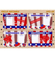 Set of templates for Independence Day on planked vector image