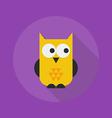 Halloween Flat Icon Owl vector image