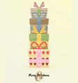 retro decorative christmas presents christmas card vector image