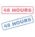 48 hours textile stamps vector image vector image