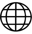 a globe icon on white background vector image vector image