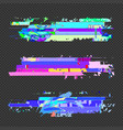 abstract glitch design elements set vector image vector image