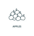 apples line icon apples outline sign vector image