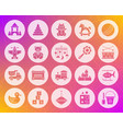 baby toy shape carved flat icons set vector image vector image