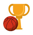 basketball trophy cup championship vector image vector image
