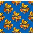 Beautiful ornamental goldfish seamless pattern vector image vector image