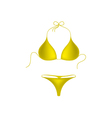 Bikini suit in yellow design vector image vector image