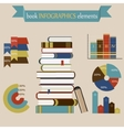Book Infographics Elements set vector image vector image