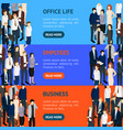 business people resource banner horizontal set vector image