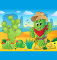cactus theme image 4 vector image
