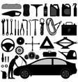 car auto accessories repair tool a set car vector image