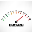 Car speedometer vector image