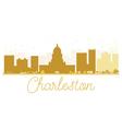 Charleston City skyline golden silhouette vector image