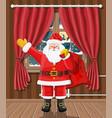 christmas interior room vector image vector image