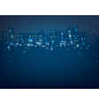 city night lights vector image vector image