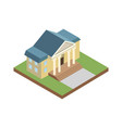 courthouse building isometric 3d elements vector image