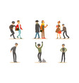 criminals and robbers characters set pickpockets vector image vector image