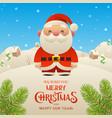 cute cartoon santa claus character merry vector image vector image