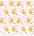 cute funny cartoon dogs shiba inu vector image vector image