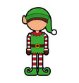 cute little christmas boy elf vector image vector image
