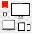 desktop computer laptop tablet pc mobile phone vector image vector image
