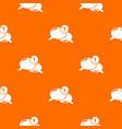 dialog pattern orange vector image
