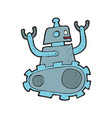 digitally drawn robot design hand drawing style vector image