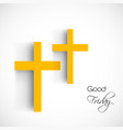 elements of good friday background vector image vector image